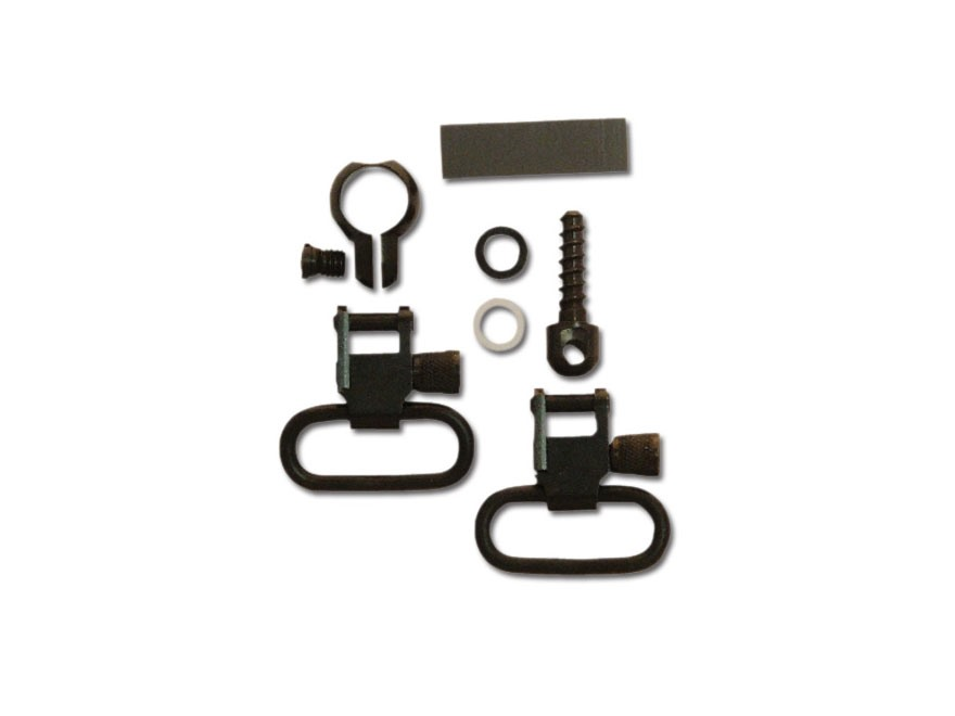 "GrovTec Barrel Band Set 1-Piece Fits Most 22 Rifles with .430-.445"" Tube Diameter Rear Screw Swivel Stud 1"" Steel Black"