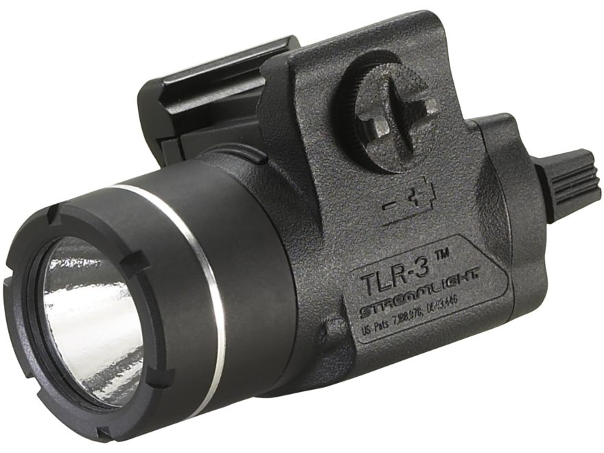 Streamlight TLR-3 Weaponlight LED with 1 CR123A Battery fits Picatinny or Glock-Style Rails Polymer Matte