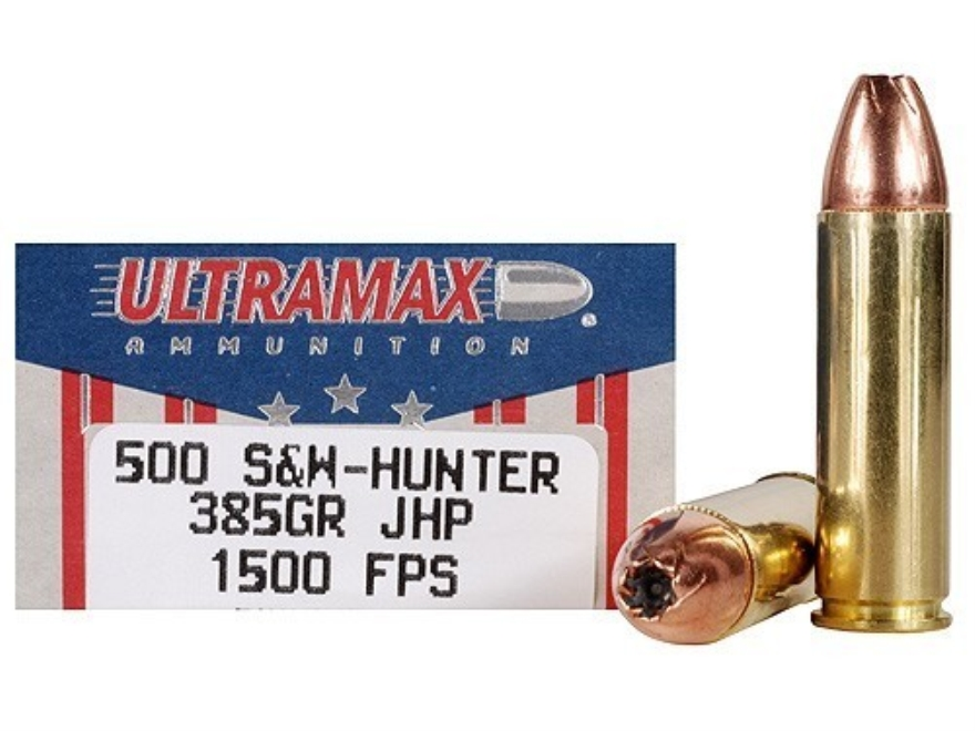 Ultramax Ammunition 500 S&W Magnum 385 Grain Jacketed Hollow Point Box of 20