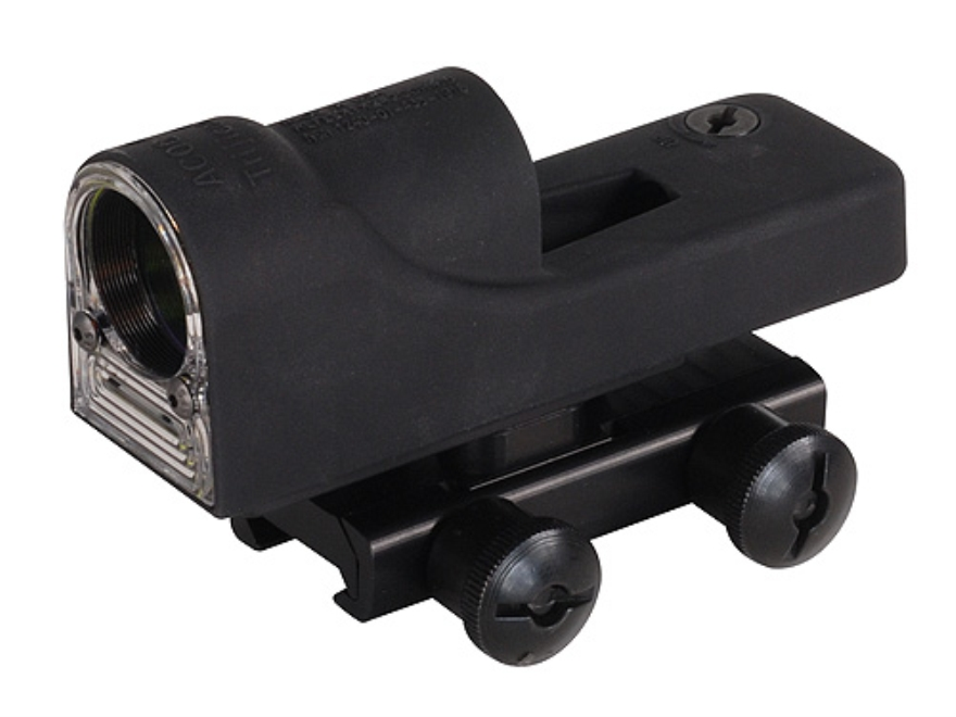 Trijicon RX01-14 Reflex Sight 1x 24mm 6.5 MOA Dual-Illuminated Amber Dot with AR-15 Flat-Top Mount Matte