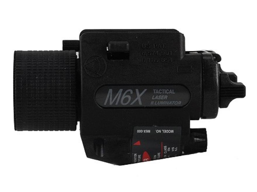 Insight Tech Gear M6X Tactical Illuminator Flashlight with Laser Halogen Bulb  fits Picatinny Rails Polymer Black