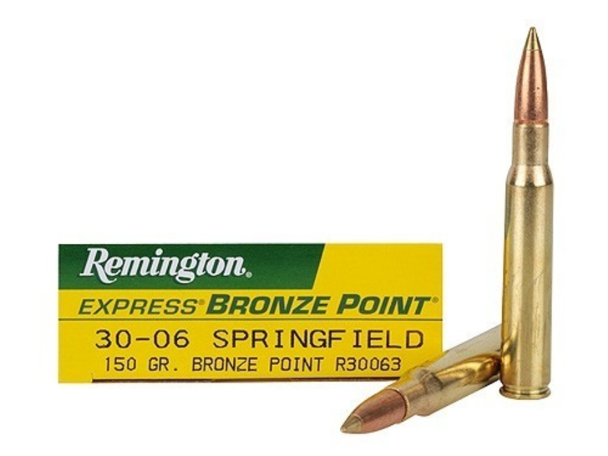 Remington Express Ammunition 30-06 Springfield 150 Grain Bronze Point Box of 20
