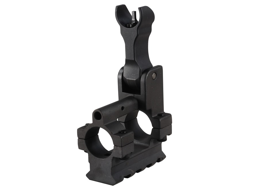 "Yankee Hill Machine Gas Block with Flip-Up Hooded Front Sight & Bottom Rail Bolt-On Mount AR-15, LR-308 Standard Barrel .750"" Inside Diameter Steel Matte"