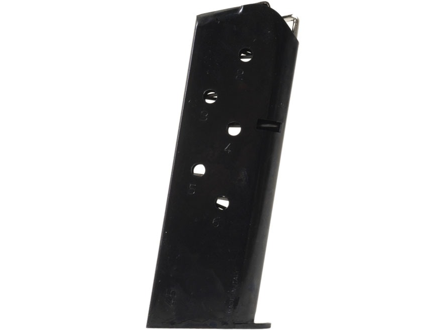 Mec-Gar Magazine 1911 Officer 45 ACP 6-Round Steel Blue