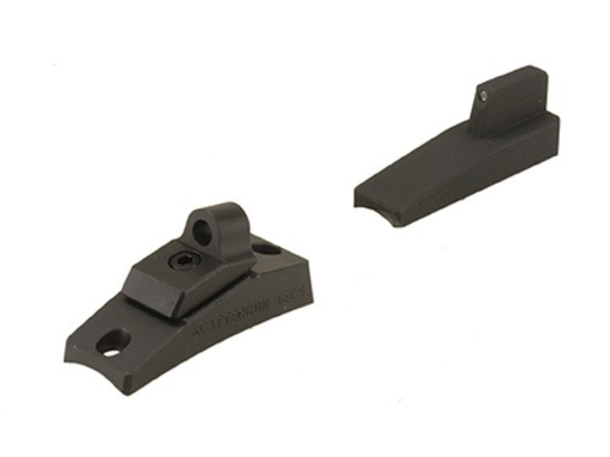 Scattergun Technologies Ghost Ring Sight Set with Tritium Front Sight Insert Remington 12 Gauge 870, 1100, 11-87 Parkerized
