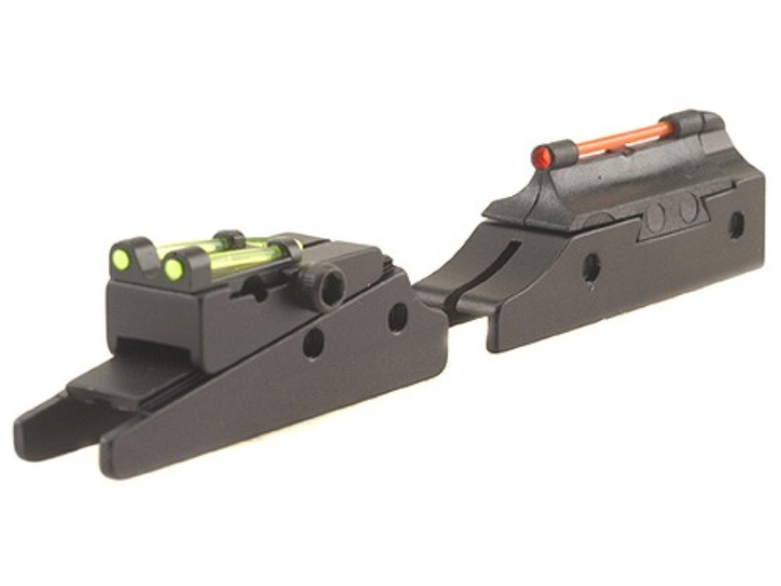 "TRUGLO Pro-Series Magnum Gobble Dot Sight Set Fits Mossberg, Weatherby, Winchester Shotgun with 3/8"" Vent Rib Steel Fiber Optic Red Front, Green Rear"