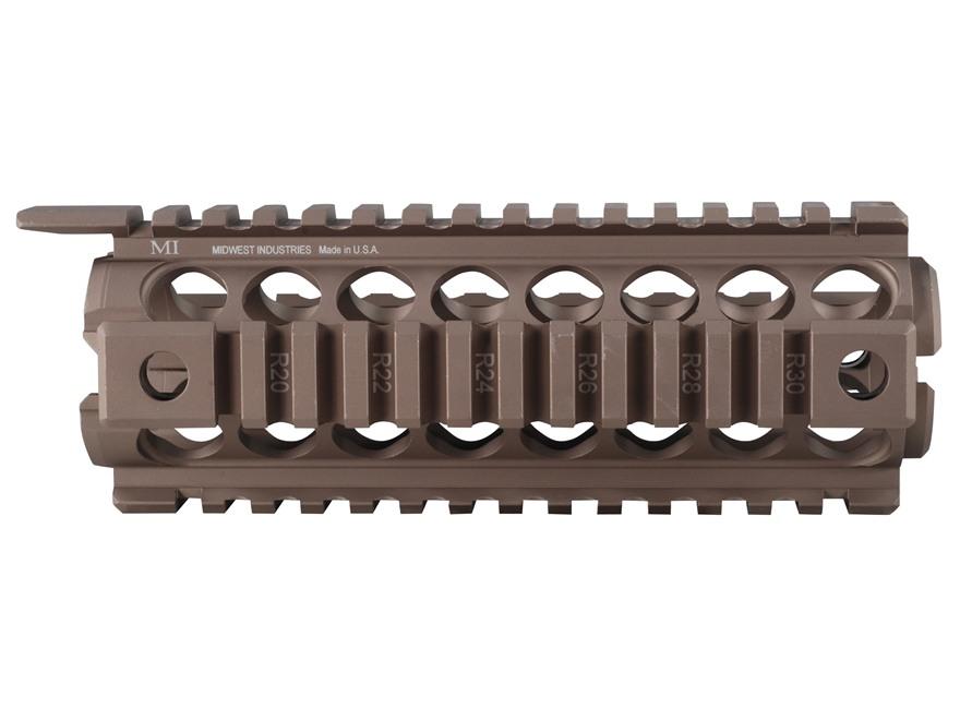 Midwest Industries 2-Piece Gen 2 Handguard Quad Rail AR-15 Aluminum