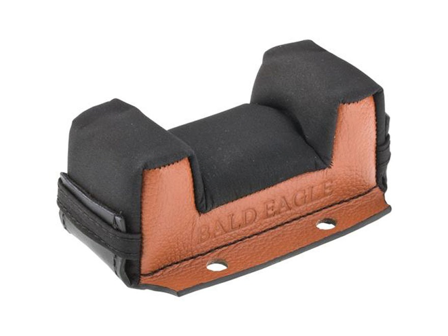"Bald Eagle Front Shooting Rest Bag 2-1/4"" Leather/Microfiber"