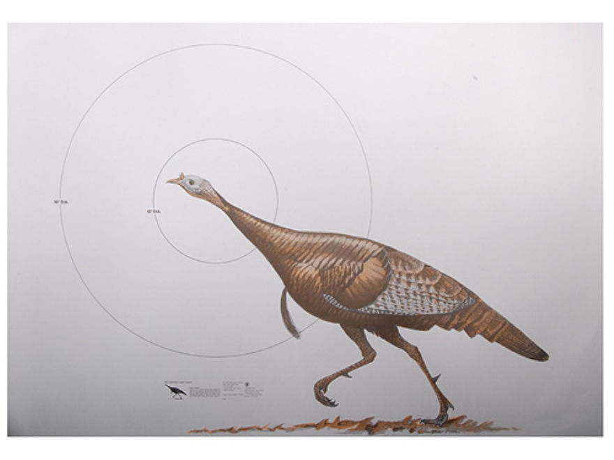 NRA Official Lifesize Game Targets Wild Turkey Paper Package of 12