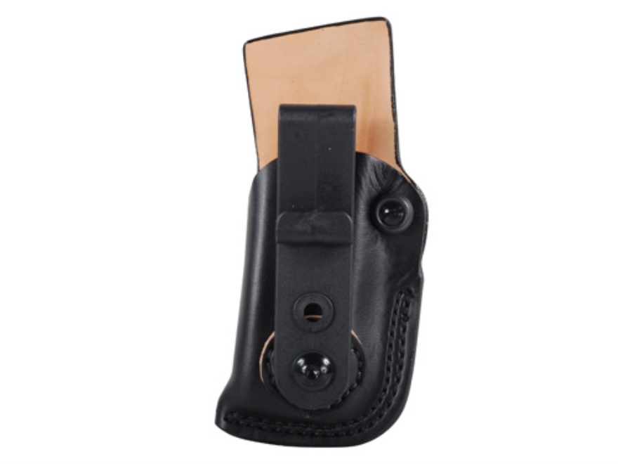 DeSantis Fly High Tuckable Magazine Pouch Double Stack 9, 40 Caliber Magazine (Not Glock or HK) Leather Black