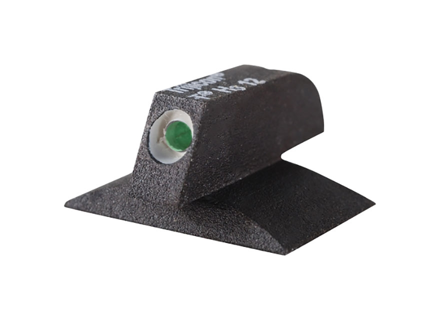 "Kensight Front Night Sight 1911 Novak Cut Contoured Base .115"" Width Steel Black with Green Tritium Dot"
