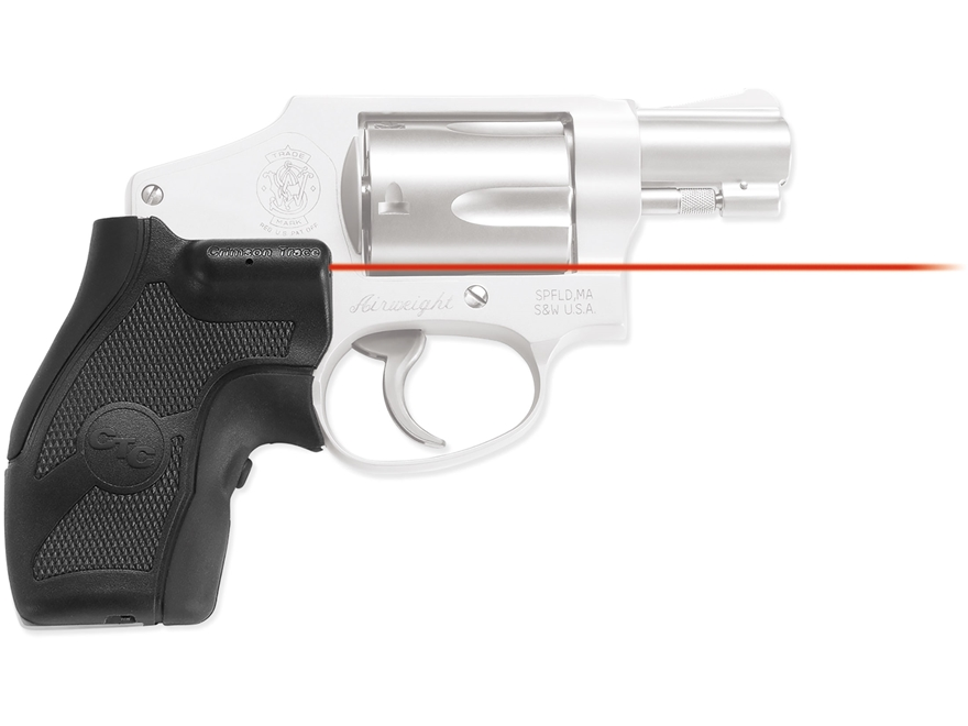 Crimson Trace Lasergrips S&W Round Butt J-Frame Revolver Polymer with Overmolded Rubber