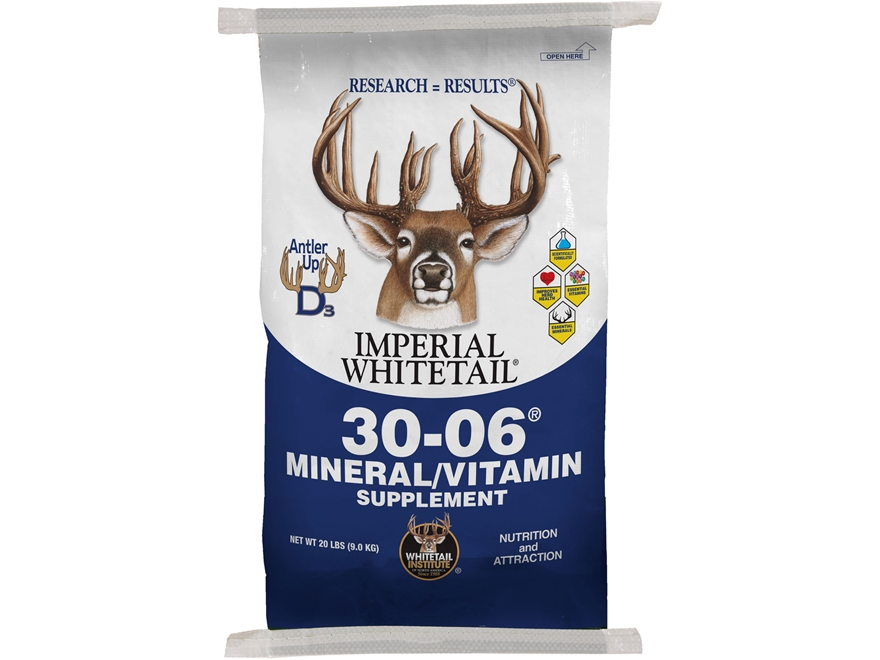 Whitetail Institute 30-06 Mineral/Vitamin Deer Supplement Granular 20 lb