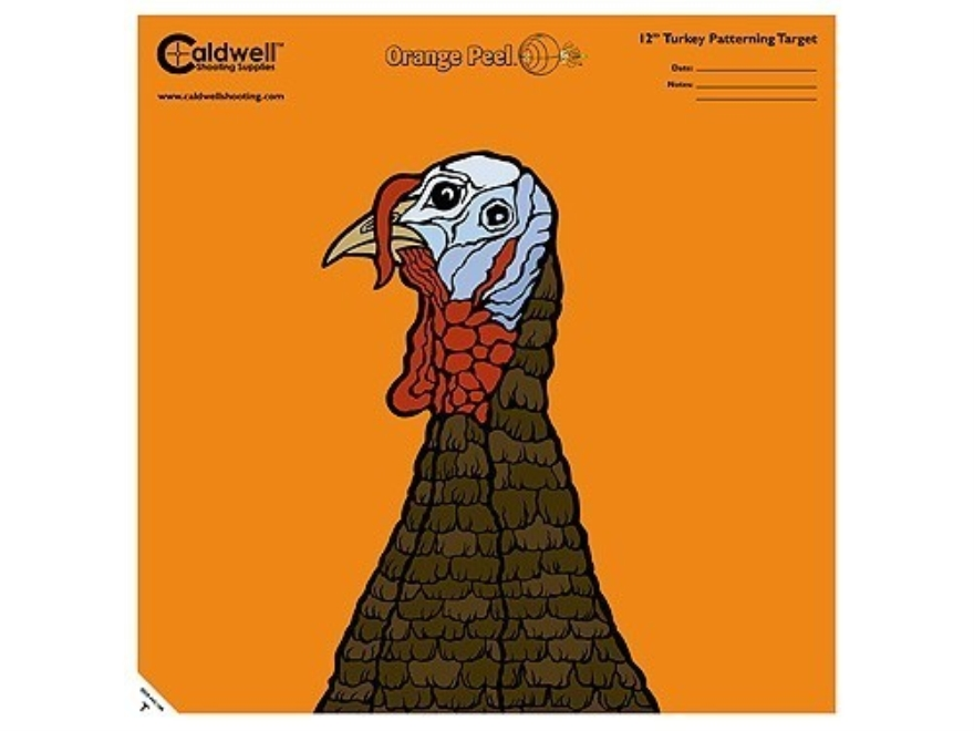 "Caldwell Orange Peel Turkey Target 12"" Self-Adhesive Silhouette Package of 25"