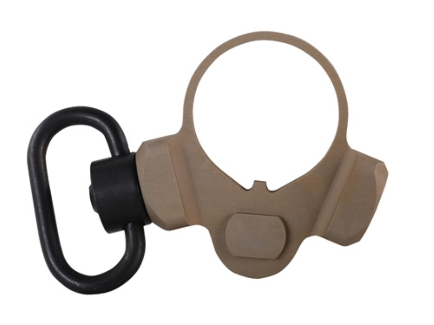 Troy Industries OEM M4 Receiver End Plate Sling Mount Adapter 2 Position Ambidextrous with Quick Detach Sling Swivel AR-15, LR-308 Carbine Aluminum