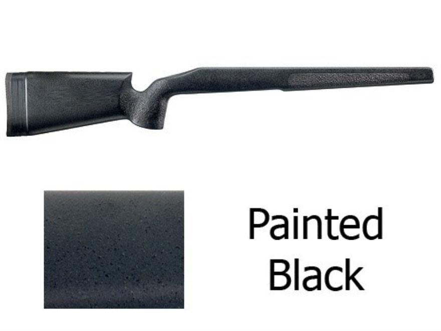 McMillan A-3 Rifle Stock Remington 700 BDL Short Action Varmint Barrel Channel Fiberglass Painted Black Semi-Inletted