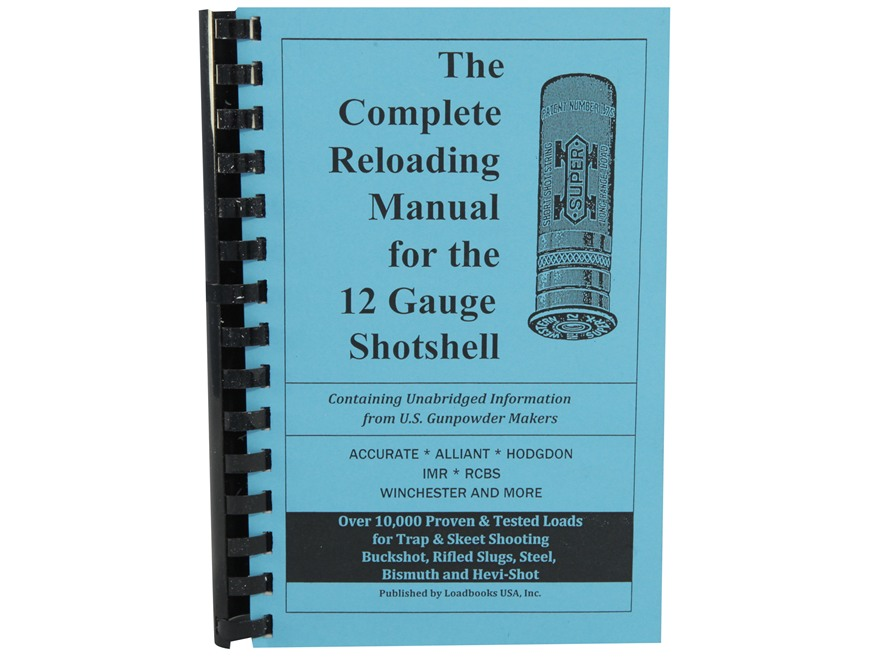 "Loadbooks USA ""12-Gauge Shotshells"" Reloading Manual"
