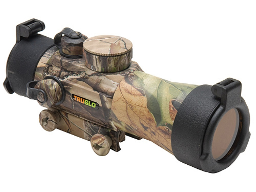 TRUGLO Red Dot Sight 42mm Tube 2x 5 MOA Red and Green Dot Reticle with Integral Weaver-...