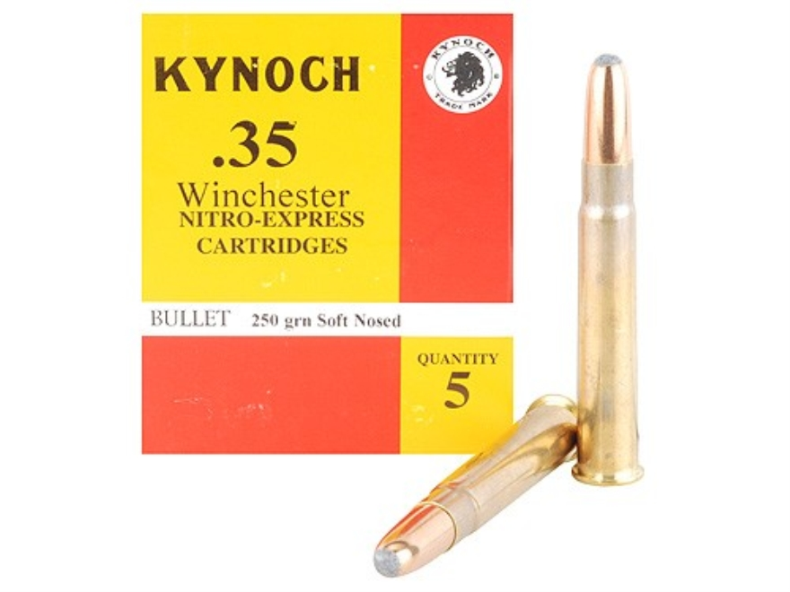 Kynoch Ammunition 35 Winchester 250 Grain Woodleigh Weldcore Soft Point Box of 5