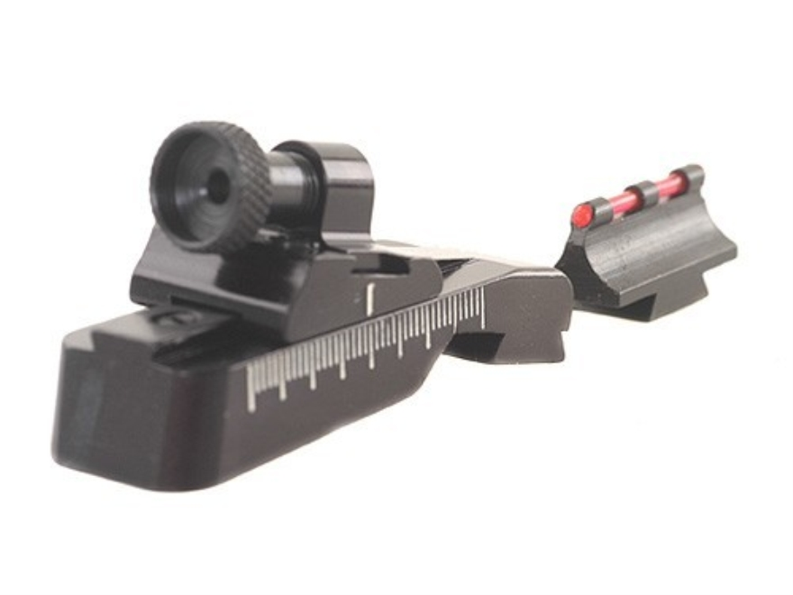 Williams WGRS-99/44 Guide Receiver Peep Sight Set with Fire Sight Front Sight Ruger 99-44 Aluminum Black