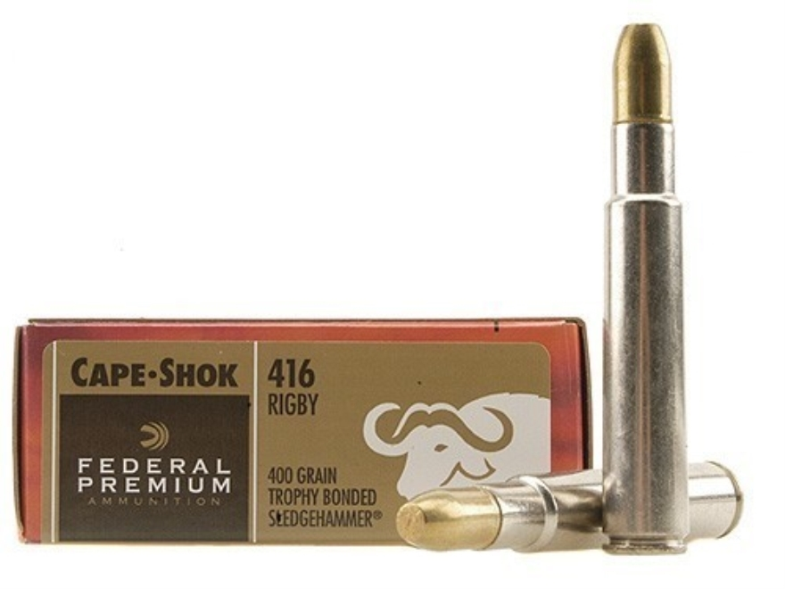Federal Premium Cape-Shok Ammunition 416 Rigby 400 Grain Speer Trophy Bonded Sledgehamm...