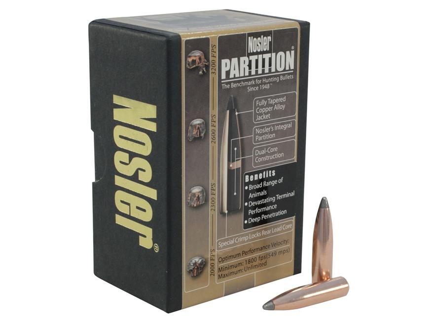 Nosler Partition Bullets 284 Caliber, 7mm (284 Diameter) 175 Grain Spitzer Box of 50