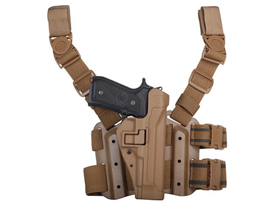 BlackHawk Tactical Serpa Thigh Holster Beretta 92, 96 Polymer