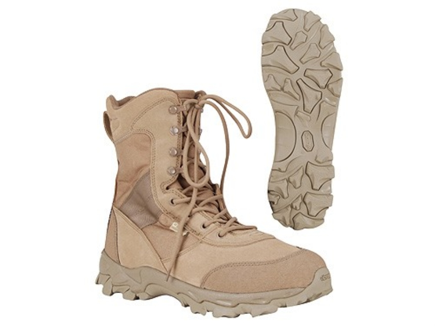 "BlackHawk Desert Ops 8"" Uninsulated Tactical Boots Leather and Nylon Coyote Brown Men's 10-1/2 D"