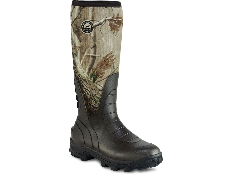 "Irish Setter Rutmaster 17"" Waterproof Uninsulated Hunting Boots Rubber and Neoprene Realtree AP Camo Men's 7 E"