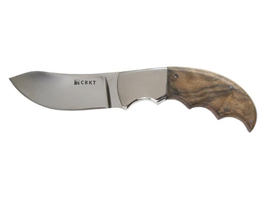 "CRKT Bez Tine Knife 3.25"" 5Cr15MoV Stainless Steel Blade Walnut Handle"