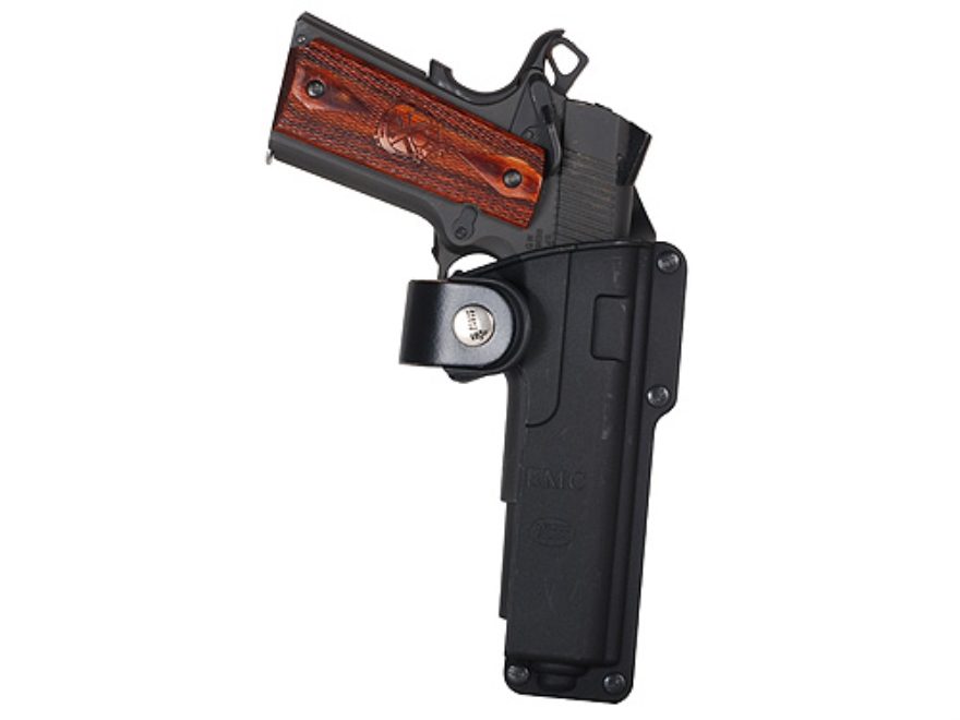 Fobus Tactical Roto-Belt Holster Right Hand 1911 Style Holds Light or Laser Polymer Black