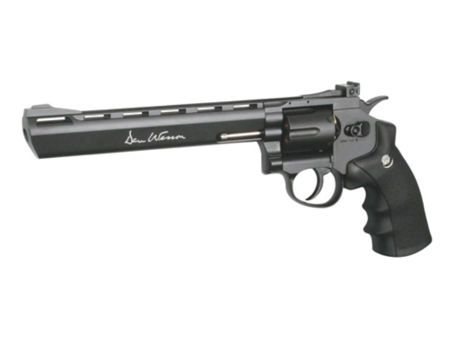 AfterMath Dan Wesson 45 Revolver 4.5mm Double Action CO2 Polymer Black