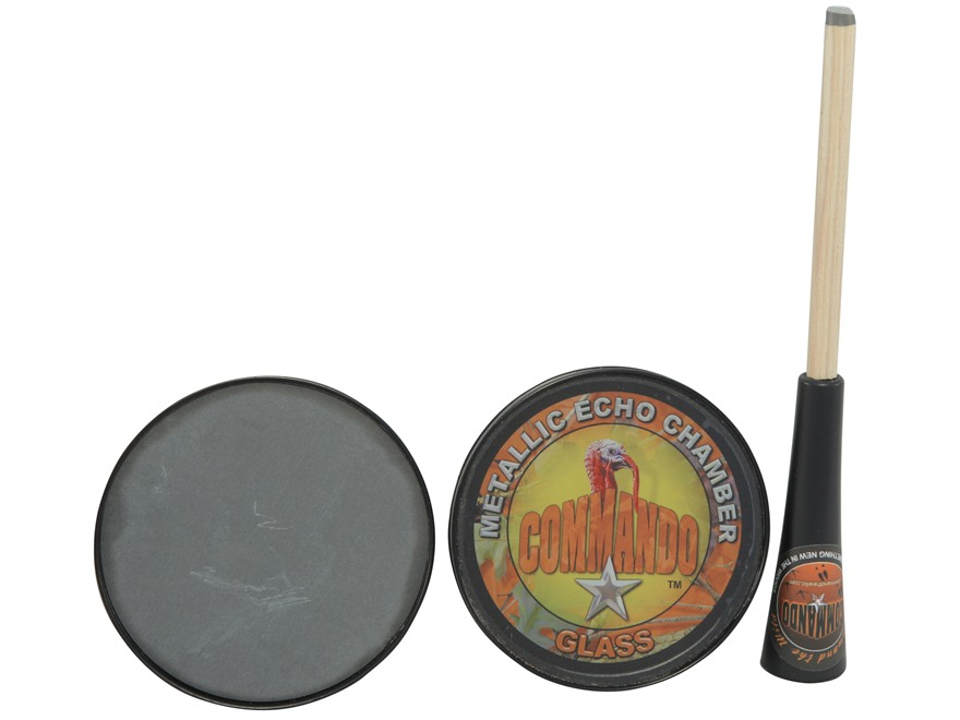 Commando Combo Glass/Slate Turkey Call with Wet Strike Striker