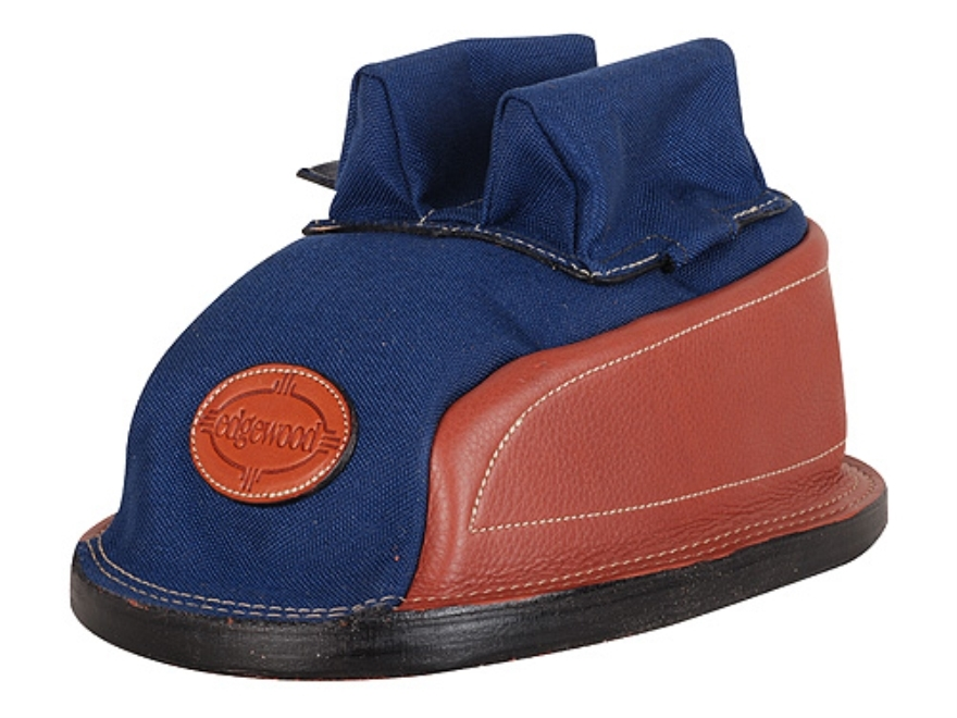 Edgewood Minigater Rear Shooting Rest Bag Tall with Regular Ears and Wide Stitch Width Leather and Nylon Navy Unfilled