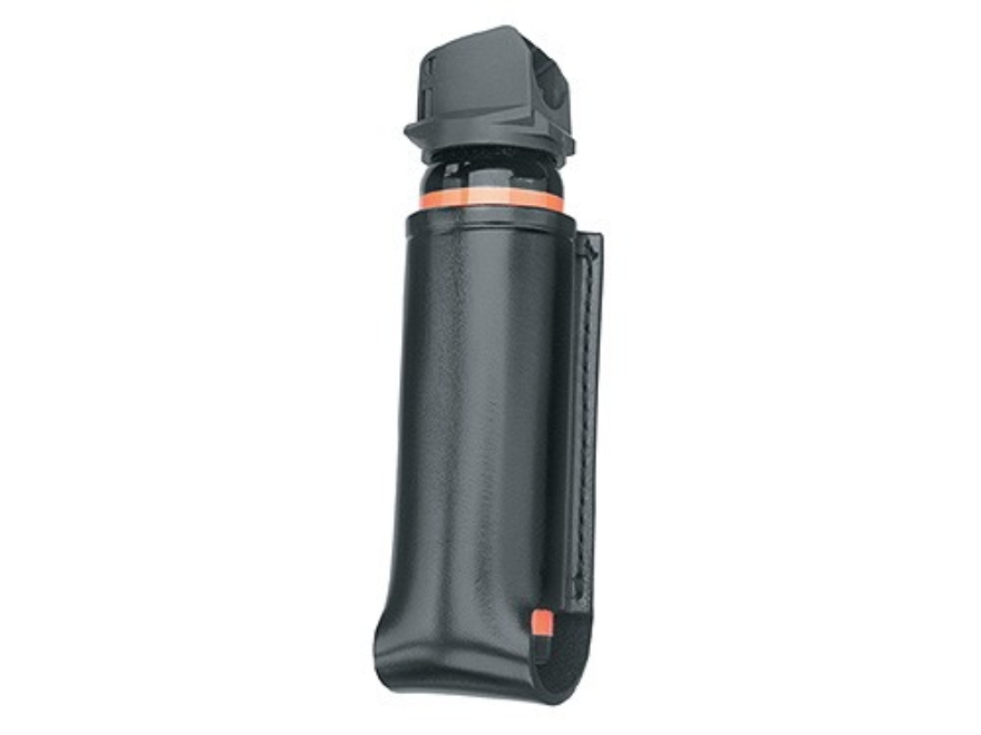 Gould & Goodrich B549 Pepper Spray Holder MK 4, MK 12, Punch II-M4, Body Guard B-10 Open Top Leather Black