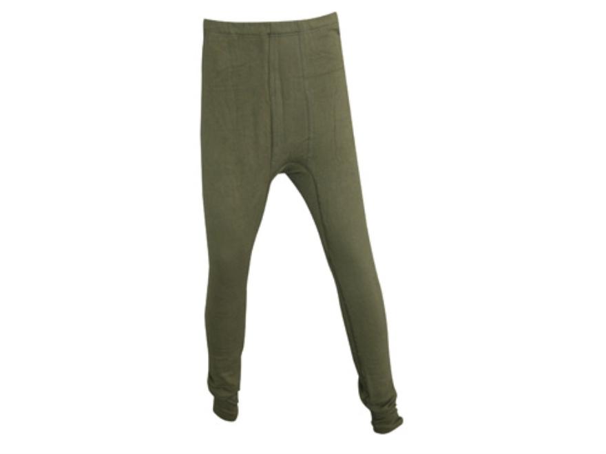 Military Surplus New Condition German Fleece Long John Pants Olive Drab Large