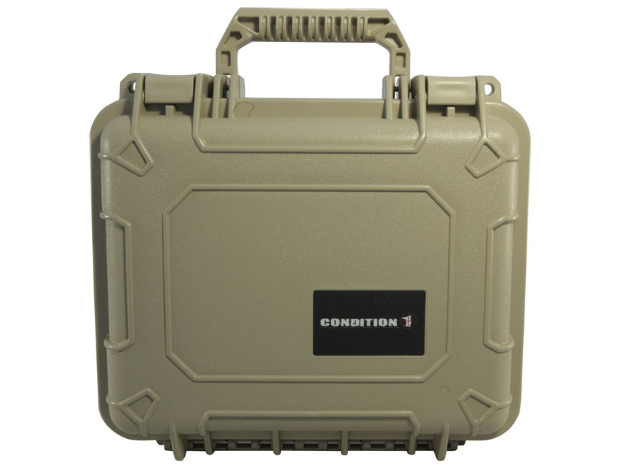 "Condition 1 101184 Hard Pistol Case 9"" x 7"" x 4"" Tan"