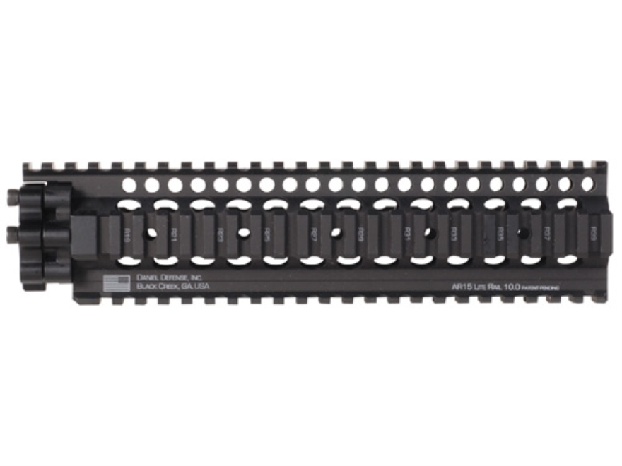 Daniel Defense Lite Rail Free Float Tube Handguard Quad Rail AR-15 Aluminum Black