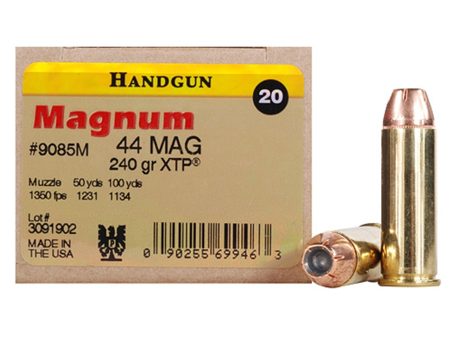 Magnum Research Ammunition 44 Remington Magnum 240 Grain Hornady XTP Jacketed Hollow Point Box of 20