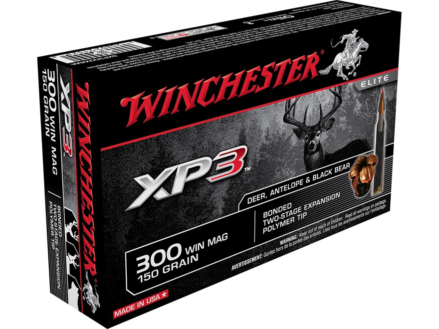 Winchester Ammunition 300 Winchester Magnum 150 Grain XP3 Box of 20