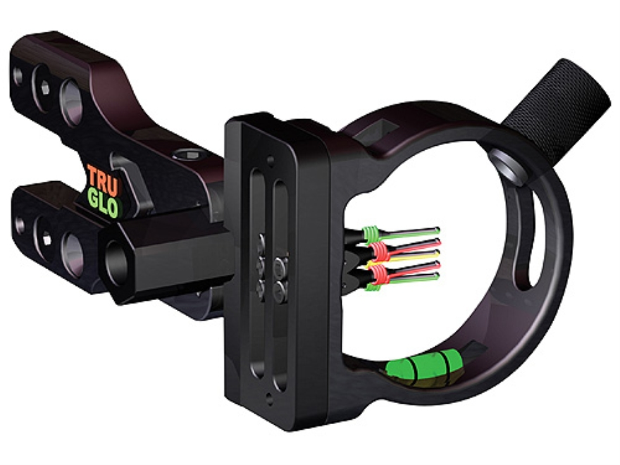 "TRUGLO Brite-Site Xtreme 5 Light 5-Pin Bow Sight .029"" Pin Diameter Aluminum Black"