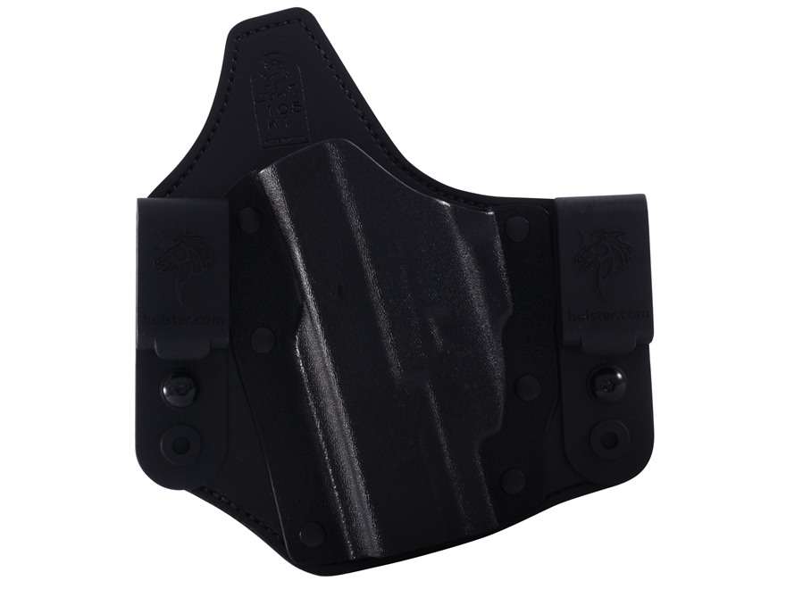 DeSantis Intruder Inside the Waistband Holster Left Hand Glock 19, 23, 32 with Crimson Trace CMR-201 Kydex and Leather Black