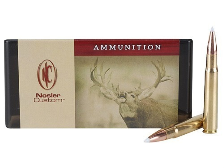Nosler Custom Ammunition 338-06 A-Square 225 Grain AccuBond Spitzer Box of 20