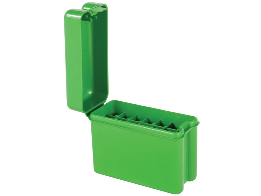 MTM Flip-Top Belt-Style Ammo Box 22-250 Remington, 243 Winchester, 308 Winchester 20-Round Plastic Green