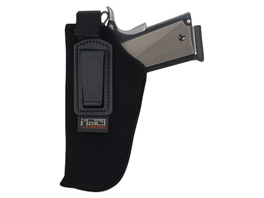 "Uncle Mike's Inside the Waistband Retention Strap Holster Medium Frame Semi-Automatic 3"" to 4"" Barrel Ultra-Thin 4-Layer Laminate Black"