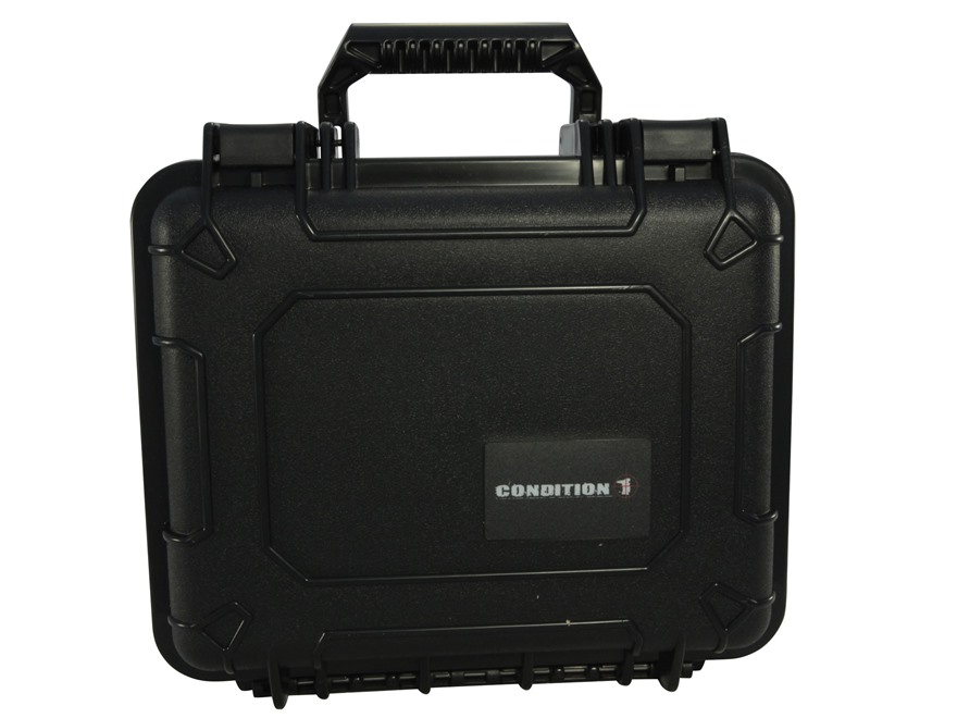 "Condition 1 101185 Hard Pistol Case 9"" x 7"" x 6"" Black"