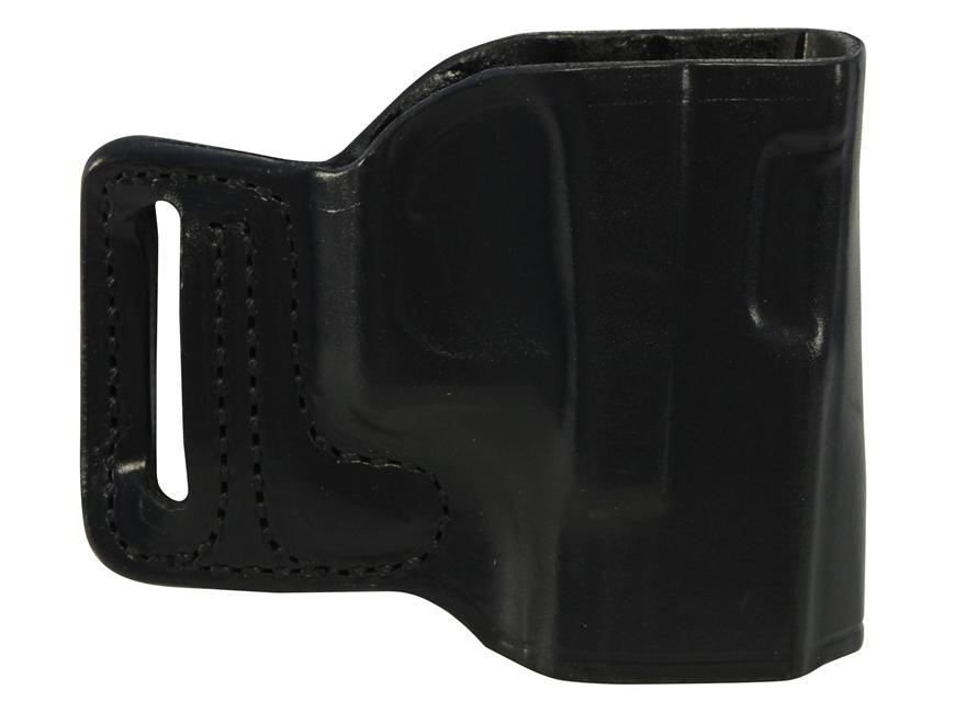 DeSantis L-GAT Outside the Waistband Slide Holster Right Hand Glock 17, 19, 22, 23, 26, 27, 33, 34, 35 Leather Black