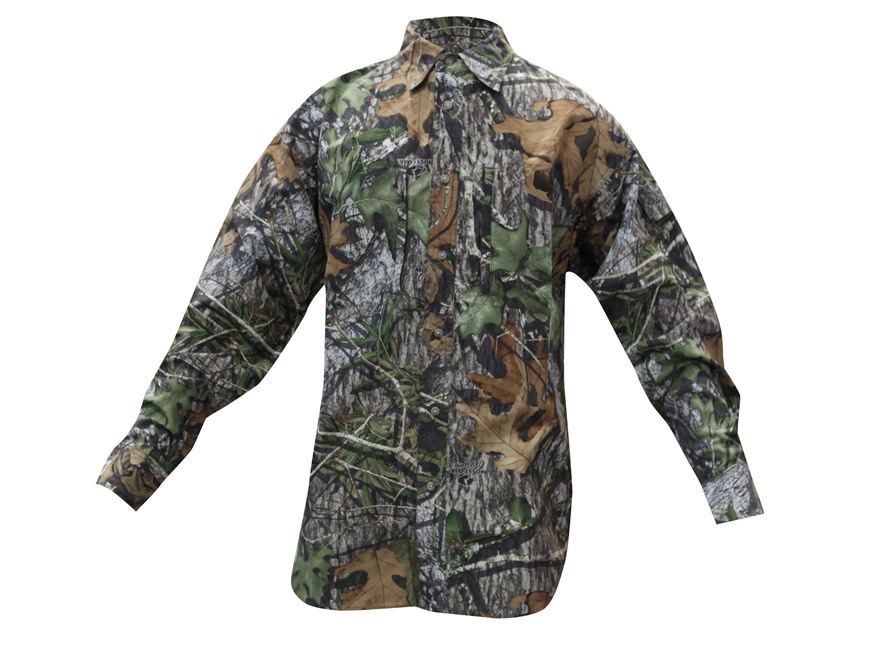 Gamehide Men's Elimitick Ultra-Lite Shirt Long Sleeve Polyester Mossy Oak Obsession Camo