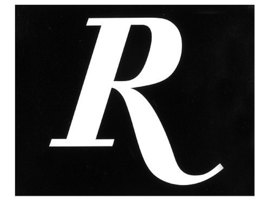 Remington   R   Logo Decal White  R Logo