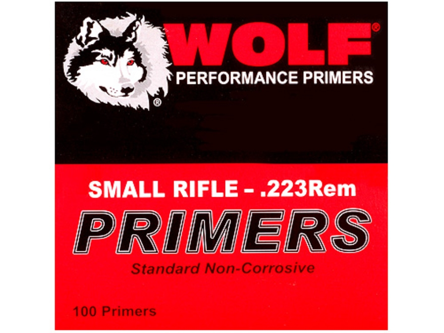 Wolf Small Rifle Primers 223 Remington Case of 5000 (5 Boxes of 1000)